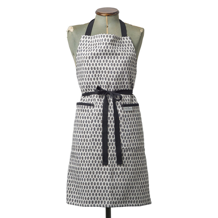 Elca Apron Black on Linen