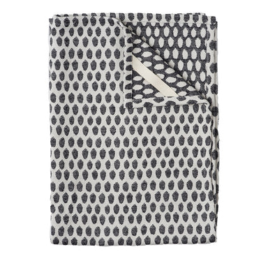 Elca Tea Towel Black on Linen