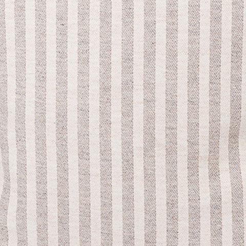 Harbour Stripe Wool Fabric Mushroom and Ecru