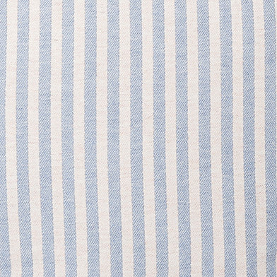 Harbour Stripe Wool Fabric Smoke and Ecru