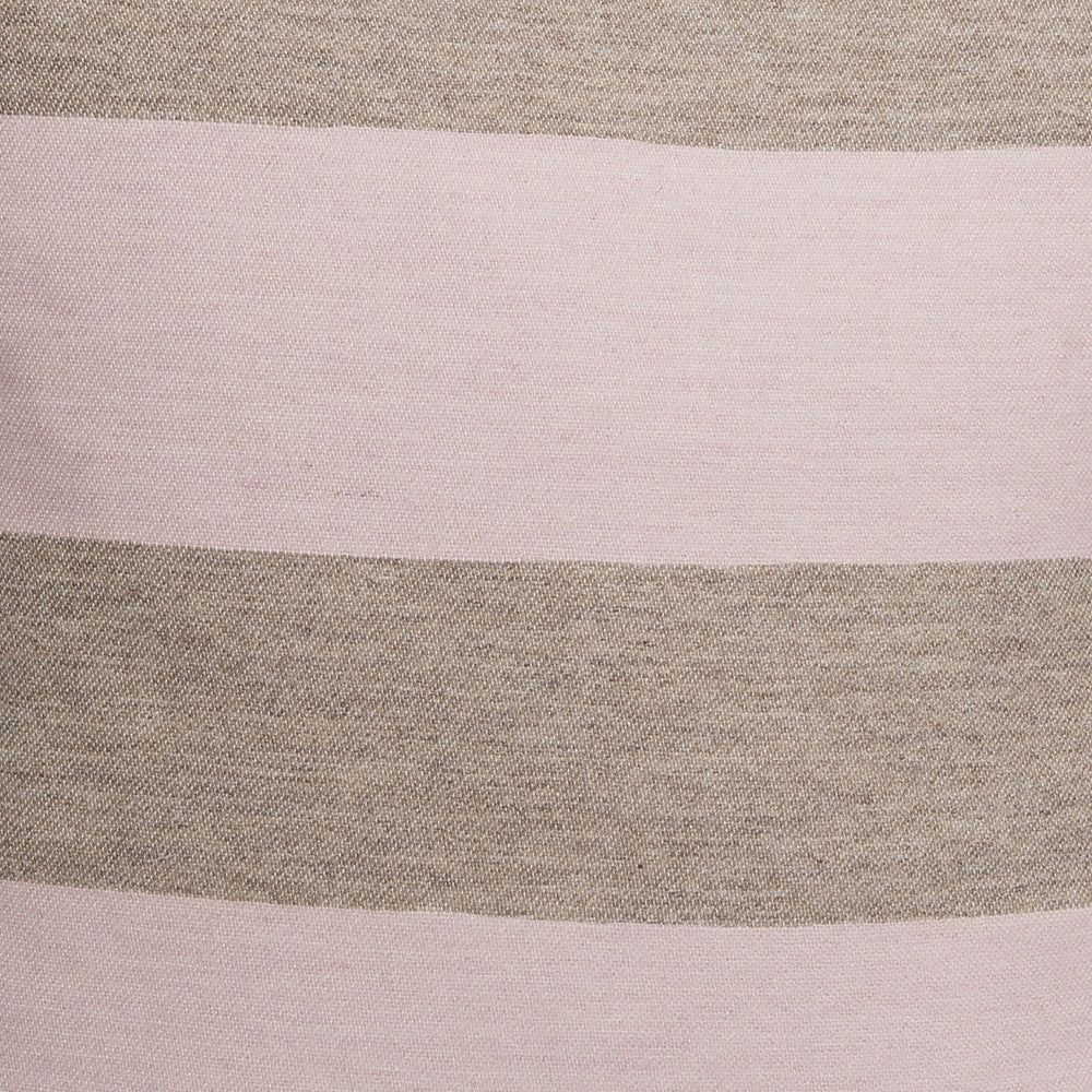 Marshall Stripe Wool Fabric Pink and Mushroom
