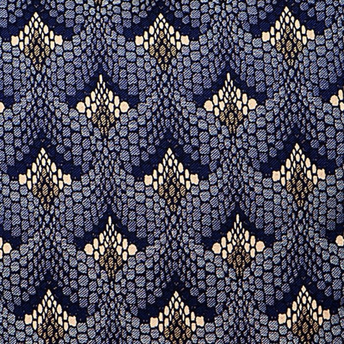 Tapestry Cotton Fabric Navy