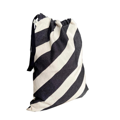 Totto Stripe Santa Sack Small Black