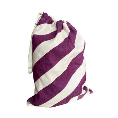 Totto Stripe Santa Sack Small Hyacinth