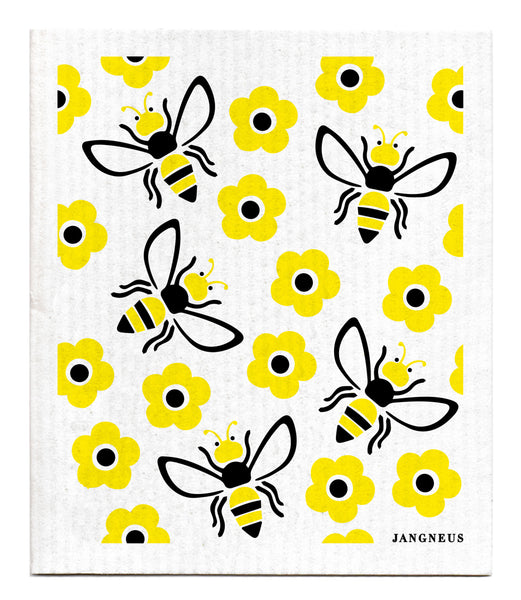 Yellow & Black- Bee Dishcloth