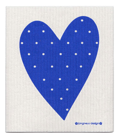 Blue - Heart Dishcloth