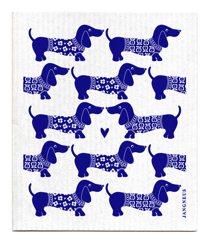 Blue - Dachshund Dishcloth