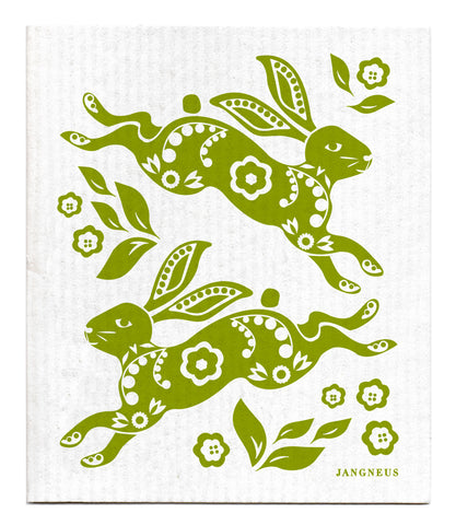 Green - Hare Dishcloth