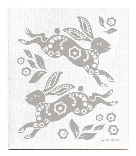 Grey - Hare Dishcloth