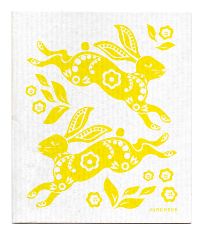 Yellow - Hare Dishcloth