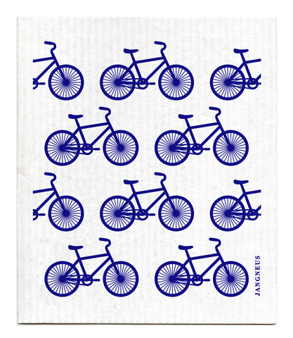 Blue - Bikes Dishcloth