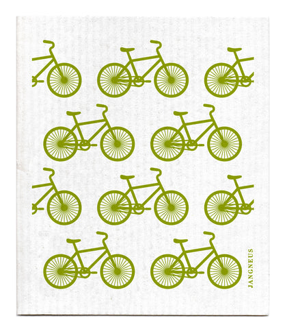 Green - Bikes Dishcloth