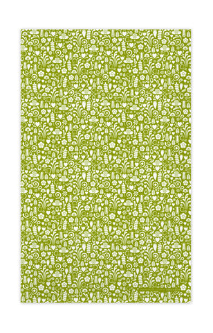 Green - Dala Tea Towel