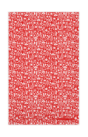 Red - Dala Tea Towel