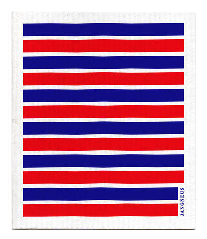 Blue & Red - Stripe Dishcloth