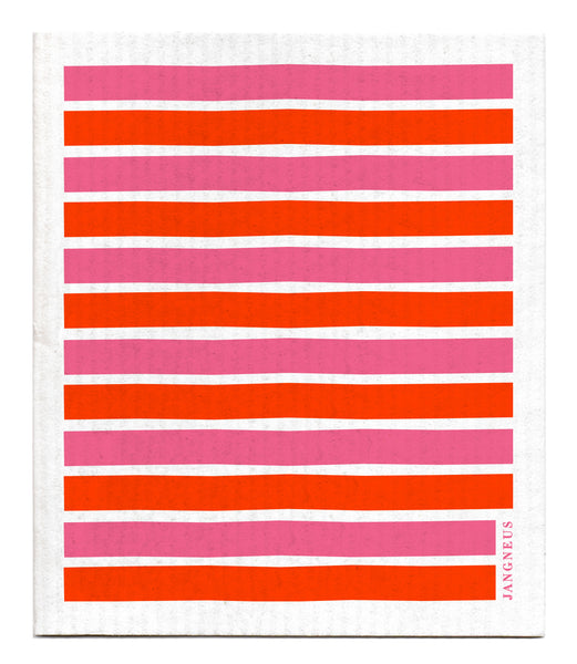 Orange & Pink - Stripe Dishcloth