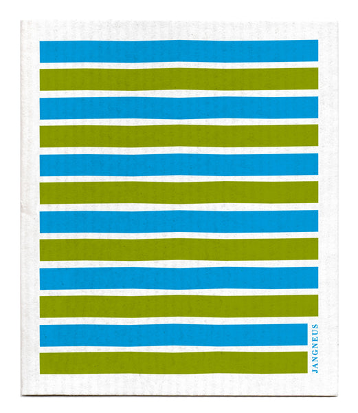 Turquoise & Green - Stripe Dishcloth