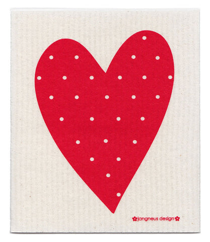 Red - Heart Dishcloth