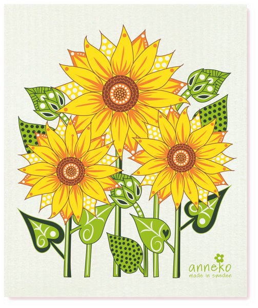 Yellow & Green- Sunflowers Dishcloth