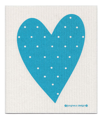 Turquoise - Heart Dishcloth