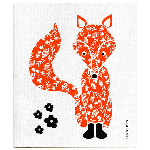 Orange - Fox Dishcloth