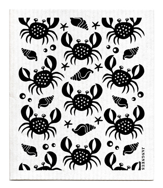 Black - Crabs Dishcloth