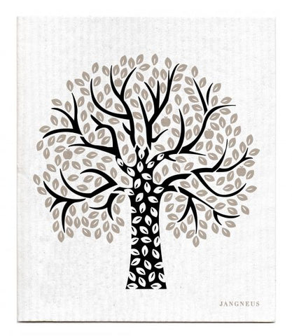 Black & Grey - Tree Dishcloth