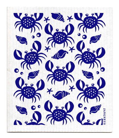 Blue - Crabs Dishcloth