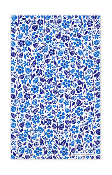 Blue - Garden Tea Towel
