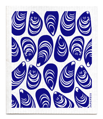 Blue - Mussels Dishcloth