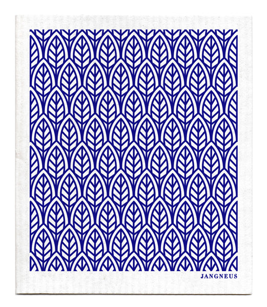 Blue - New Leaves Dishcloth