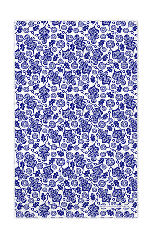 Blue - Oak Leaf Tea Towel