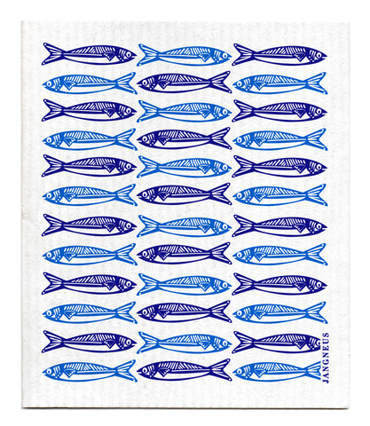 Blue - Sardines Dishcloth