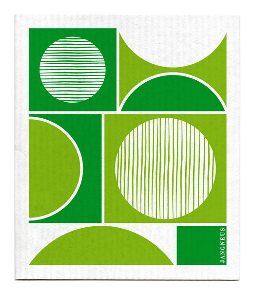 Green - Circles Dishcloth