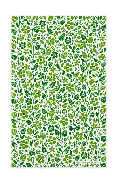 Green - Garden Tea Towel