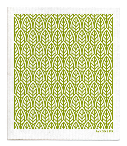Green - New Leaves Dishcloth
