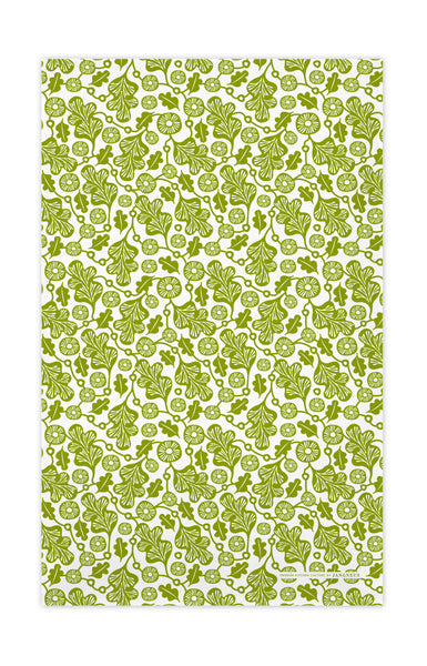 Green - Oak Leaf Tea Towel