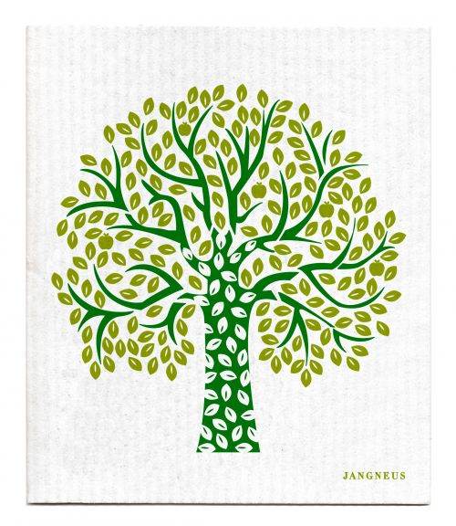 Green - Tree Dishcloth