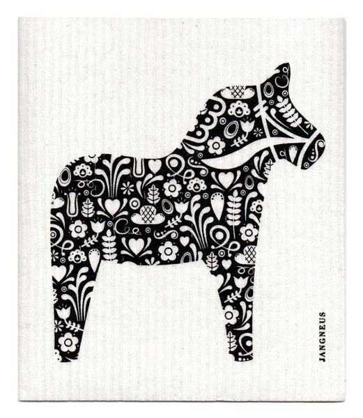 Black - Horse Dishcloth