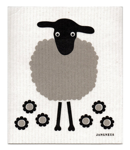 Grey & Black - Sheep Dishcloth