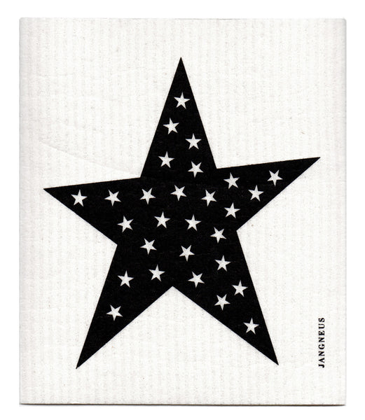 Black - Stars Dishcloths