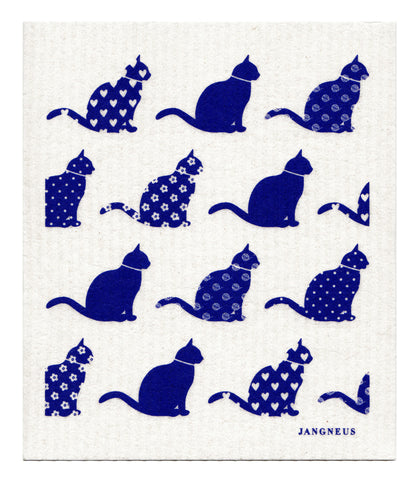 Blue - Cats Dishcloth