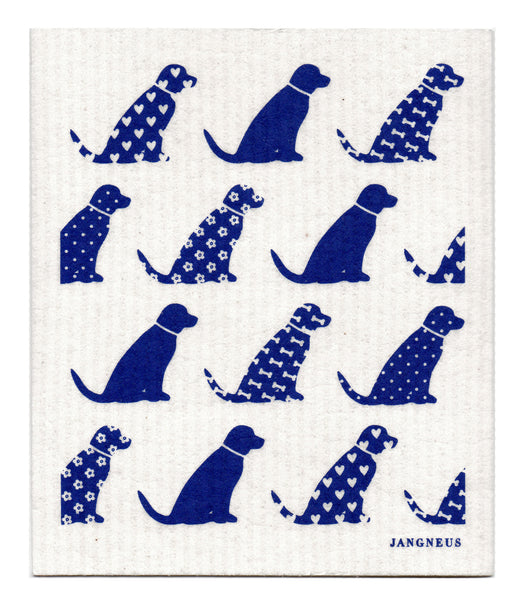 Blue - Dogs Dishcloth