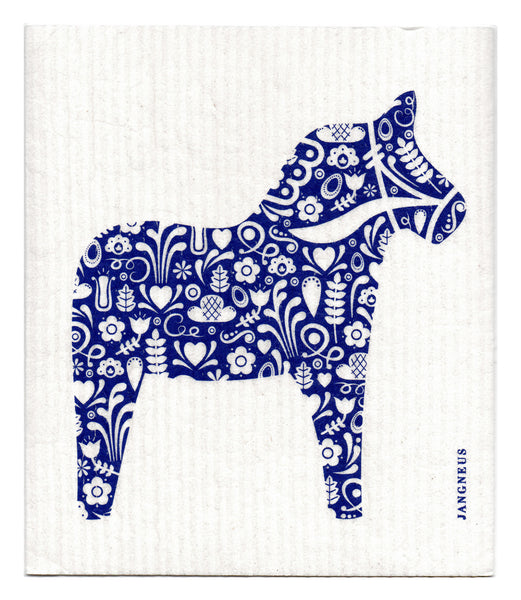 Blue - Horse Dishcloth
