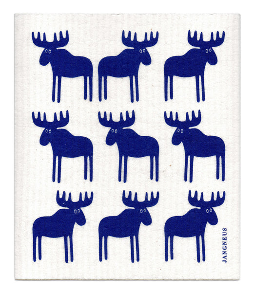 Blue - Moose Dishcloth