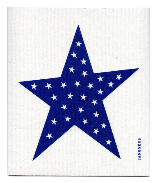 Blue - Star dishcloth