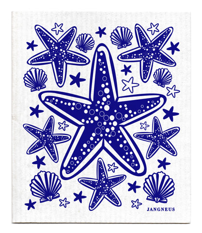 Blue - Starfish Dishcloth