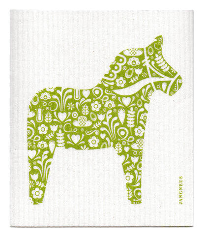 Green - Horse Dishcloth