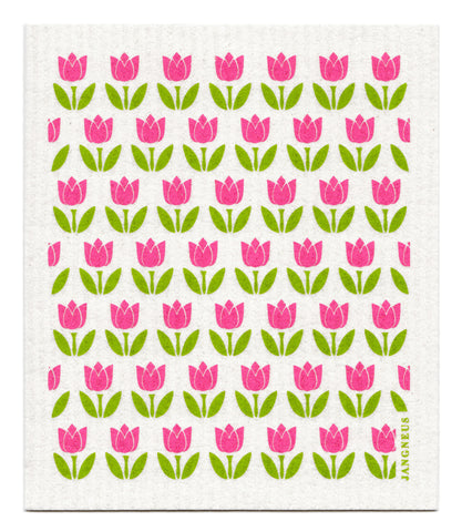 Pink - Small Tulips Dishcloth