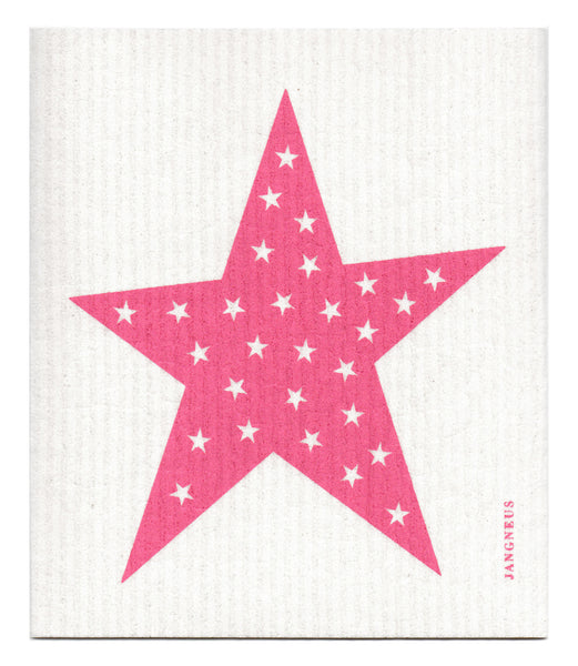 Pink - Stars Dishcloth